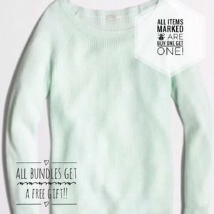 ☃️J. crew, mint green ribbed pullover sweater